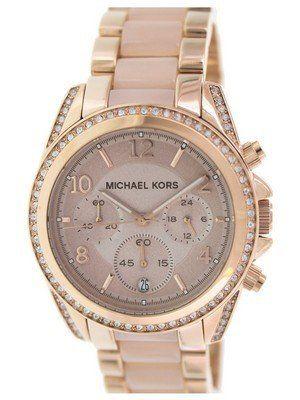 7669ebe92ee2a Michael Kors Blair Chronograph Crystals MK5943 Women s Watch ...