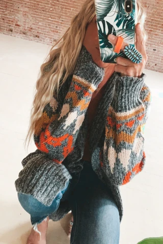 The Cuddle Up Colorful Cardi