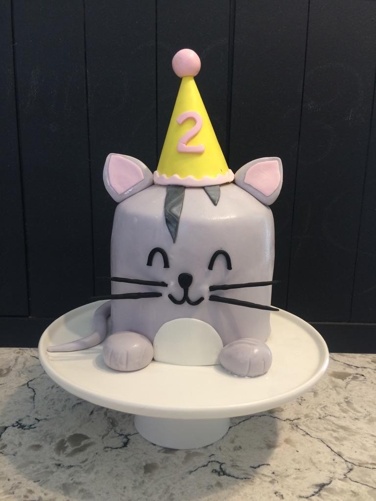 Cat cakeanimal cakemeaw cake kids birthday cake Happy Birthday to