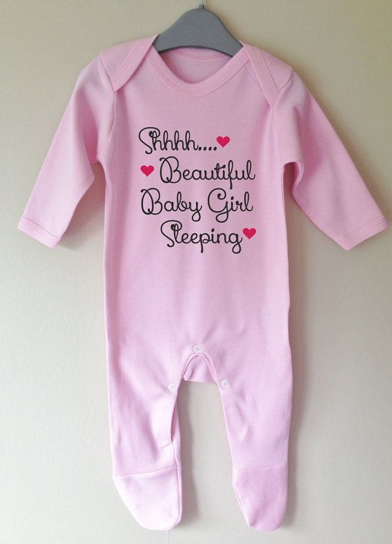shhh beautiful baby girl sleeping personalised