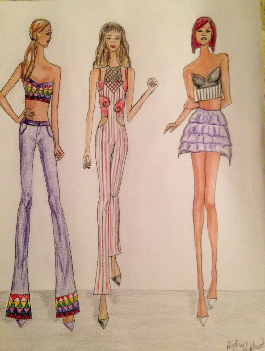 My fashion sketches  My dream is to be a fashion designer