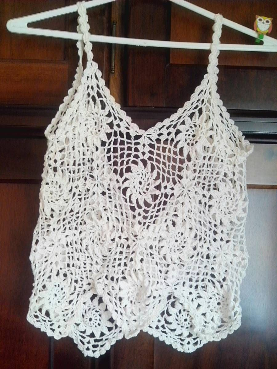 9287ed6cde63 Conjunto Saída de Praia Crochê - Marca dd-artesanato. Fique na moda com  crochê. Saia e blusa de crochê na cor cru. TAM P
