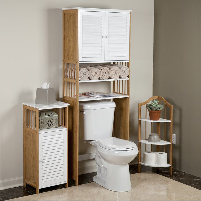 Danyab Bamboo Bathroom 27 X 71 Over The Toilet Cabinet Reviews