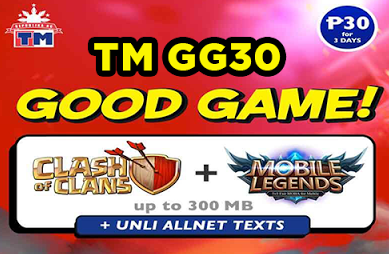 TM GG30 Promo is the latest TM Prepaid Promos  To all