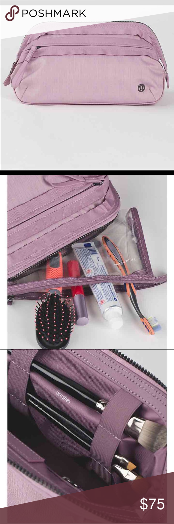 Lululemon Don't Sweat It Kit Don't sweat it—this bag has room to fit the full-sized cosmetics you want after a sweaty workout. Fabric is water-repellent, durable, and easy to wipe clean lululemon athletica Bags Cosmetic Bags & Cases