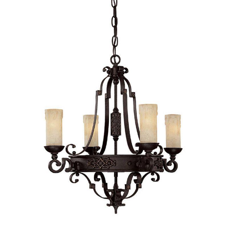capital lighting 3604ri 279 rustic iron river crest 4 light 1 tier