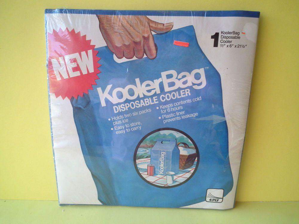 Kooler Bag Disposable Cooler Holds 2 Six Packs Ice Tailgating Camping Fishing Stregis