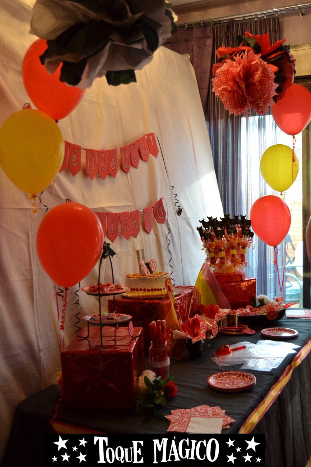 Pompones decorativas para candy bar. Decoración Taurina, Fiesta San ...