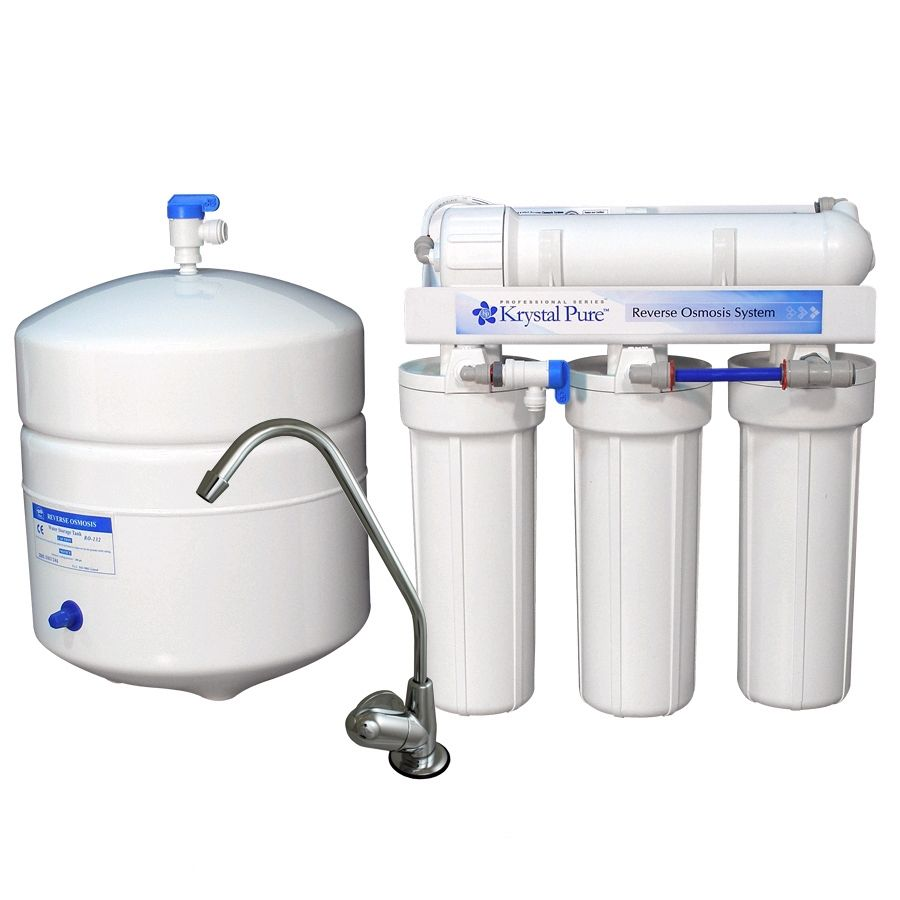 Krystal Pure Triple Stage Reverse Osmosis Filtration Under Sink Water Filtration System Lowes Com In 2020 Water Filtration System Reverse Osmosis Home Water Filtration
