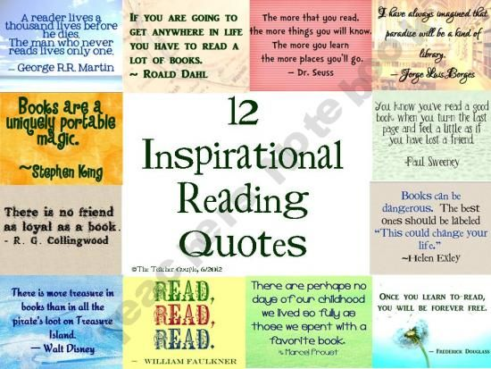 Inspirational Reading Quotes 12 Inspirational Reading Quotes product from TheTeacherCouple on  Inspirational Reading Quotes