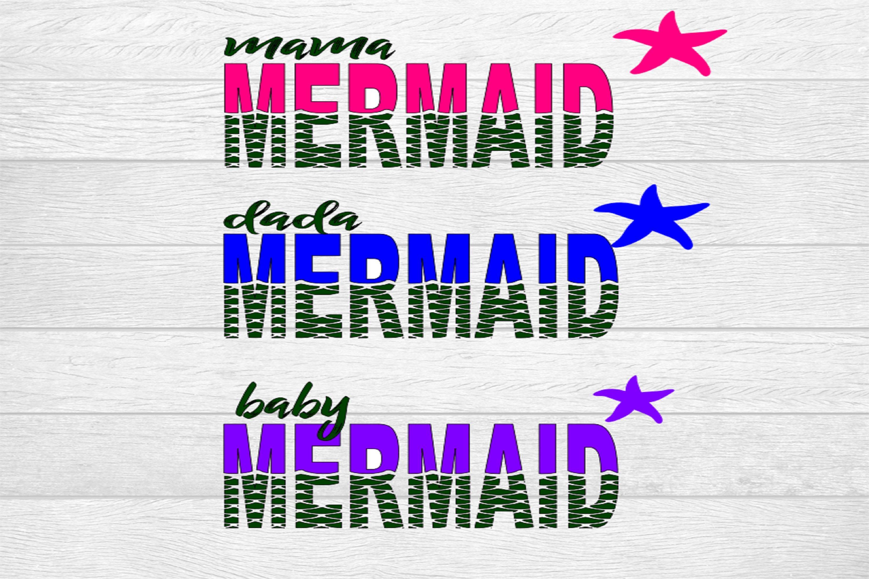 Mermaid Family SVG Bundle in 2020 Svg, Christian svg