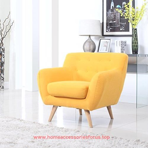 Mid Century Modern Tufted Button Living Room Accent Chair (Yellow)  BUY NOW     $140.00    Super modern mid century chairs – perfect for a fun living room to add a touch of modernism and color to any room.Super comfo ..  http://www.homeaccessoriesforus.top/2017/03/01/mid-century-modern-tufted-button-living-room-accent-chair-yellow/