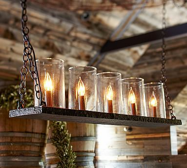rochester linear chandelier #potterybarn $399 - really simple