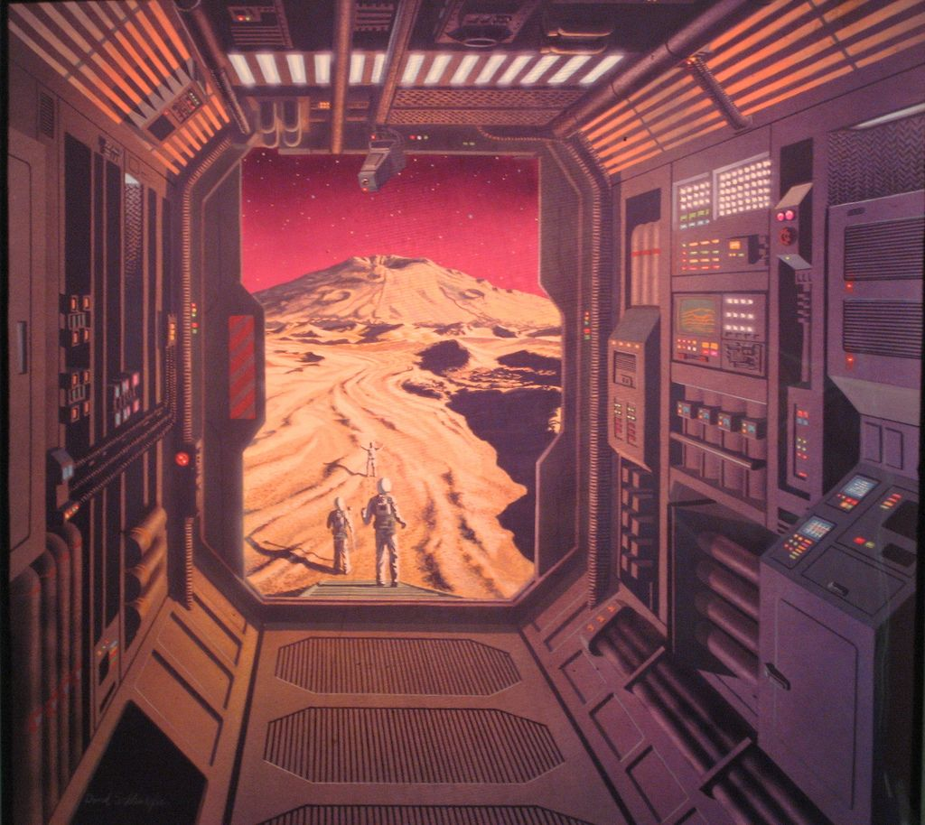 A collection of futuristic works by David Schleinkofer, from the artist's Flickr account.
