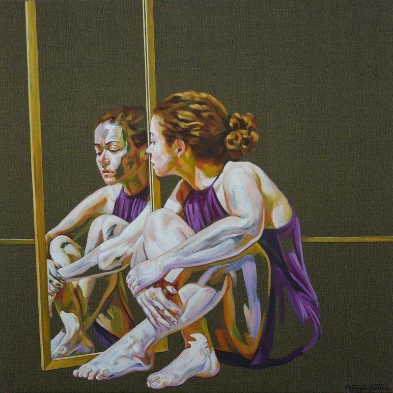 Cristina Troufa - Contemporary Artist - Figurative Painting - Confessionary - 2014