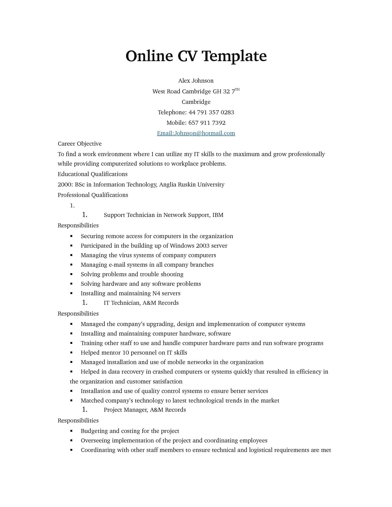 resume format online free format online resume resumeformat
