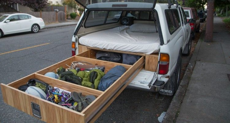 How To Retrofit The Perfect Adventure Truck With A Bed A Storage System Photos Truck Bed Camping Truck Camping Truck Bed Storage