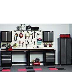 Craftsman 7 PC Heavy Duty Garage Storage Set   Black/Platinum
