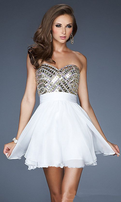 Images of White Homecoming Dress - Reikian