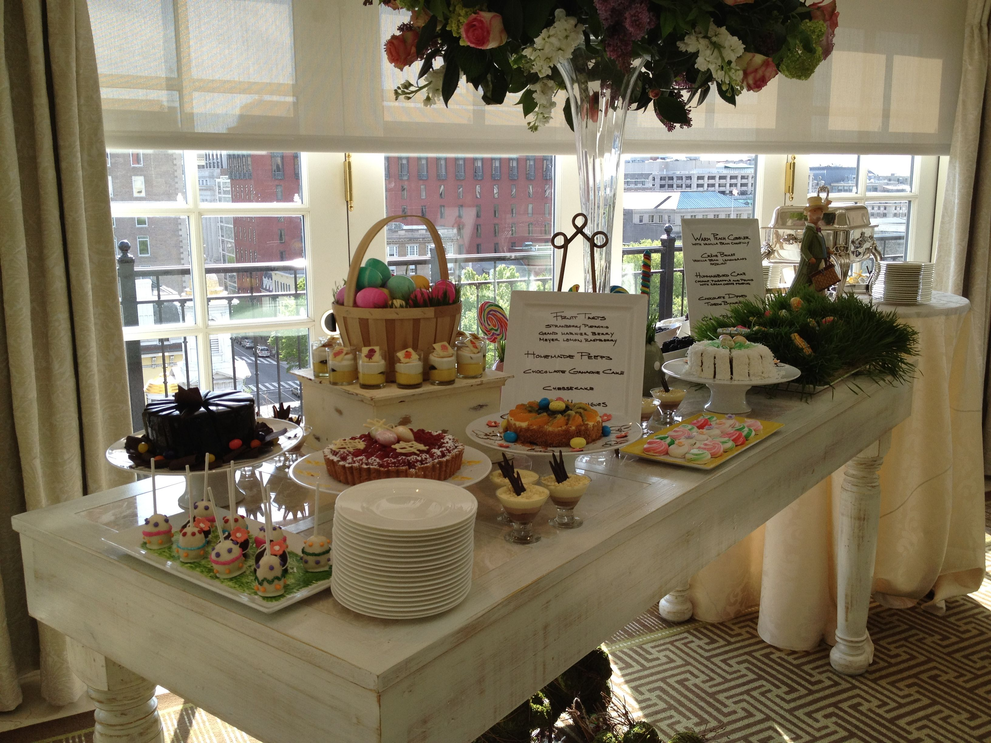 Sweet Treats At Our Easter Brunch At The Hay Adams Hotel Washington