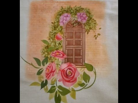 Pintura em MDF com estencil Litoarte e Opa - YouTube