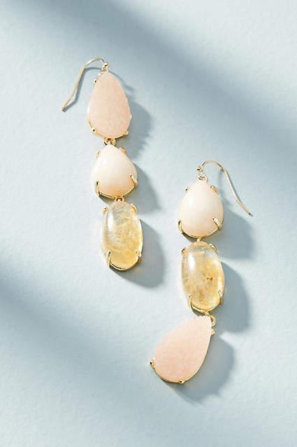 Anthropologie Harmonious Stone Drop Earrings GexOy
