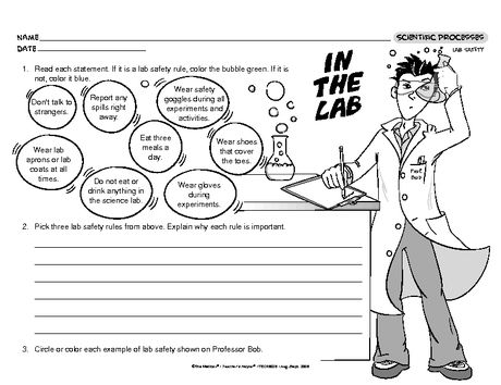 in the lab lesson plans the mailbox science science lab safety science worksheets lab. Black Bedroom Furniture Sets. Home Design Ideas