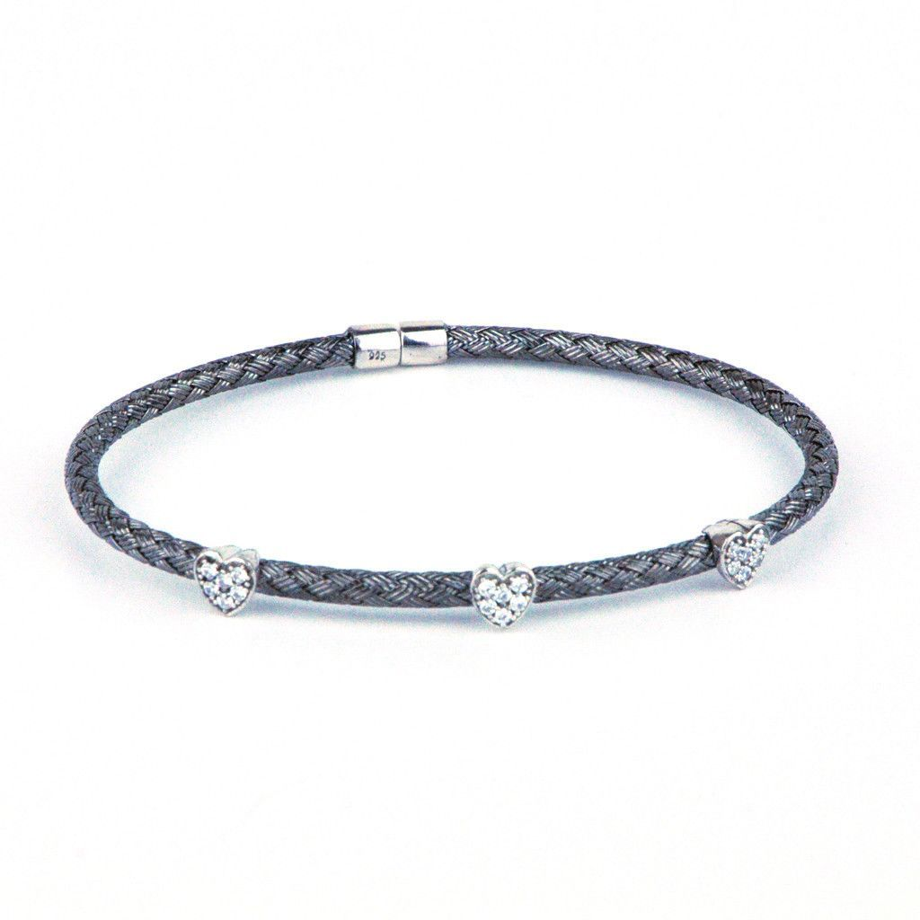 bracelets jewellery rhodium zirconia silver image simple bracelet real link and effect elegant cubic white