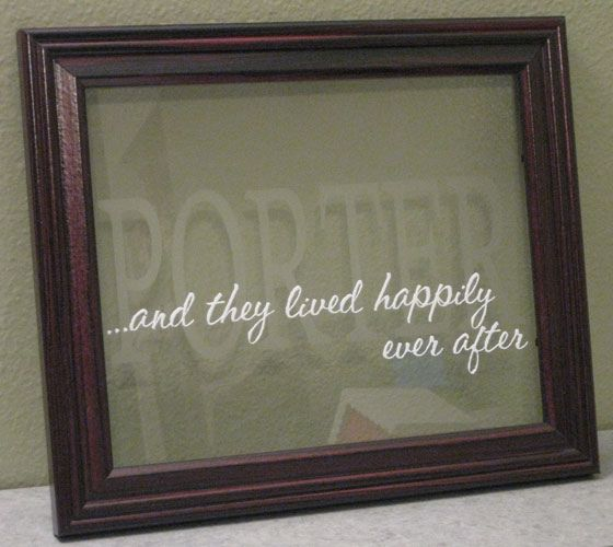 Etch Frame Etching Diy Etched Mirror Glass Crafts