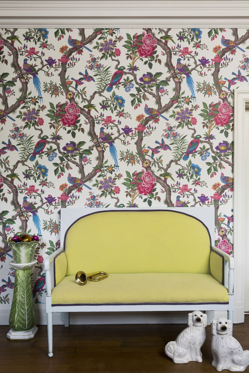Fontainebleau by Cole & Son Fuchsia Pink & Emerald Green