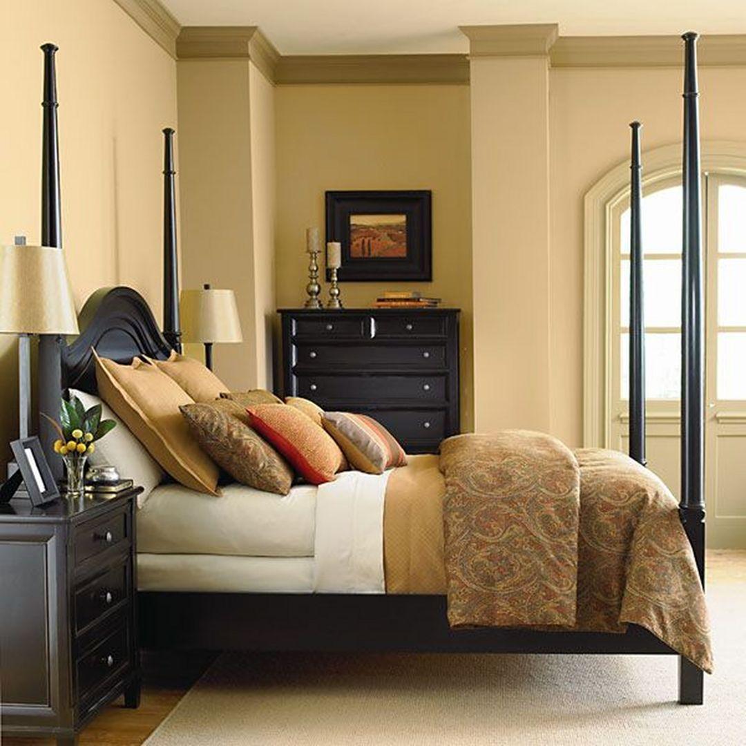 Dark Cozy Bedroom with 25 Elegant Black Bedroom Furniture