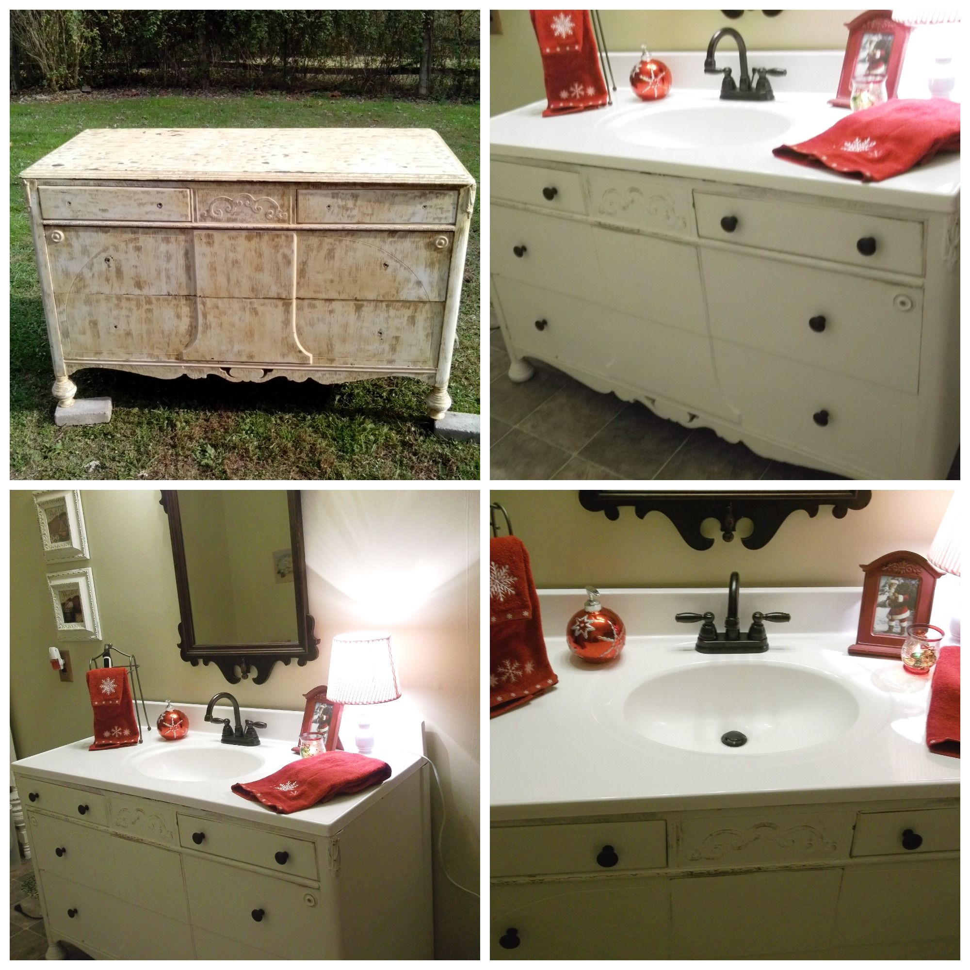 My Attempt At Repurposing An Old Dresser That My Sister,