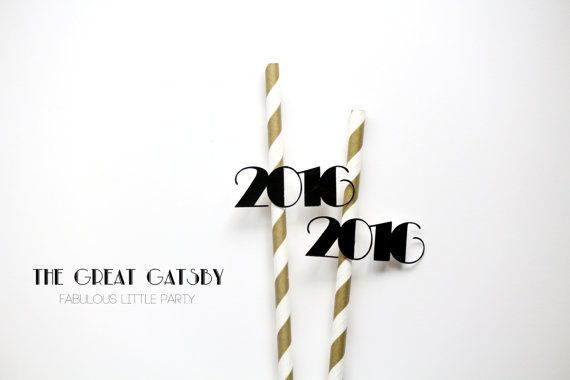 The Great Gatsby New Years Eve 2016 Number Party Straws New Years