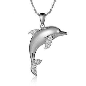 Sealife jewelry alamea 14k white gold tail dancing dolphin pendant sealife jewelry alamea 14k white gold tail dancing dolphin pendant dolphin jewelry by emerald lady jewelry destin fl pinterest white gold dolphin aloadofball