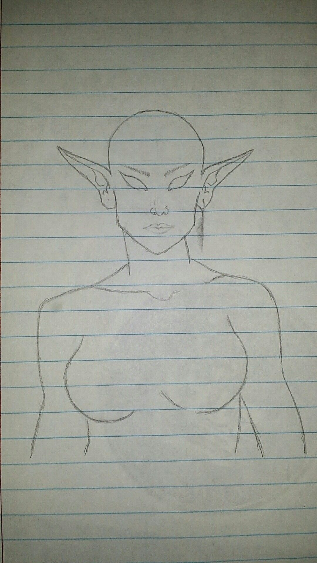 Dnd Elf Head And Face Template Couldnt Find A Good One Of These So I Created This Elftemplate Dndelftemplate