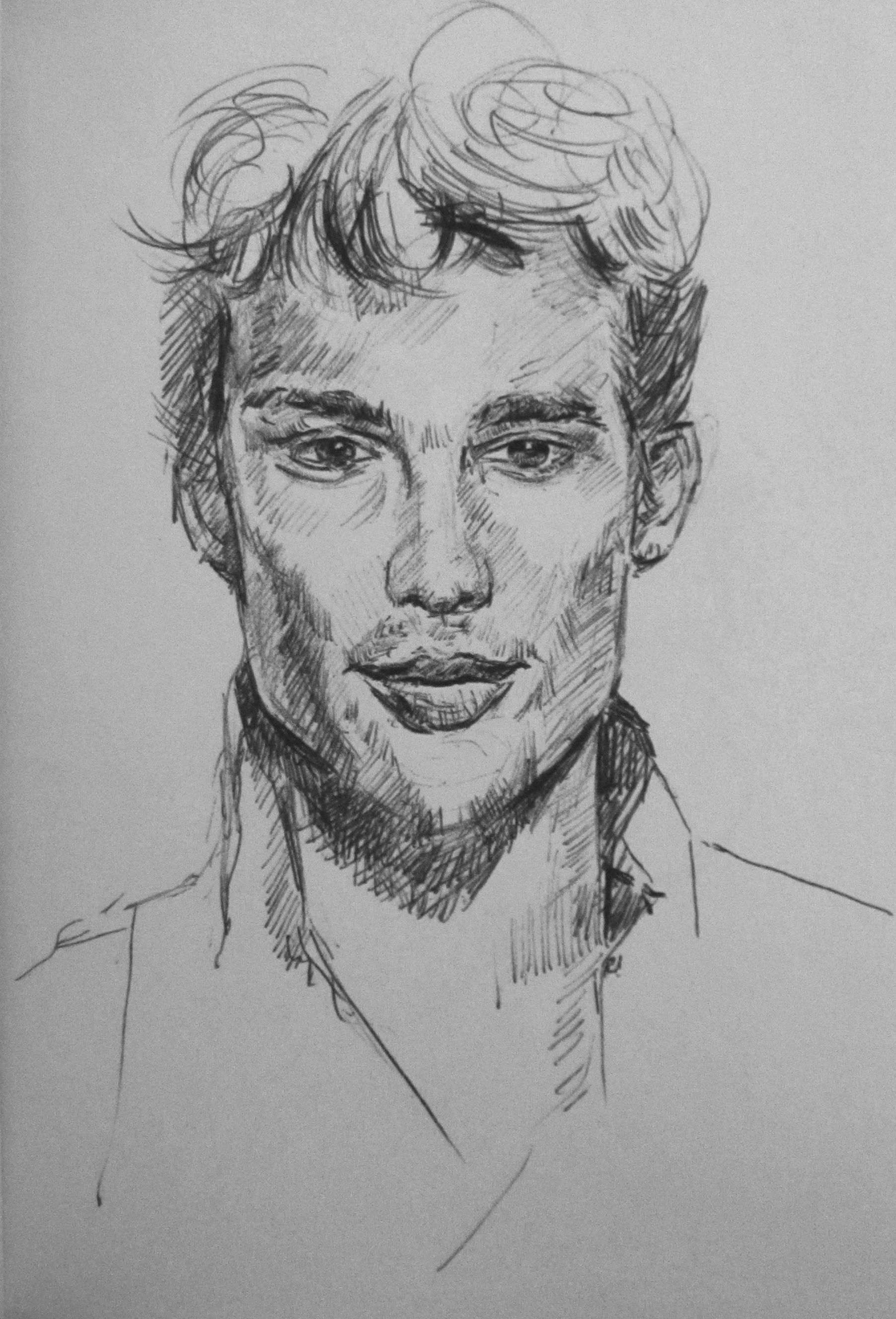 A Man Picture To Draw Pencil Sketch