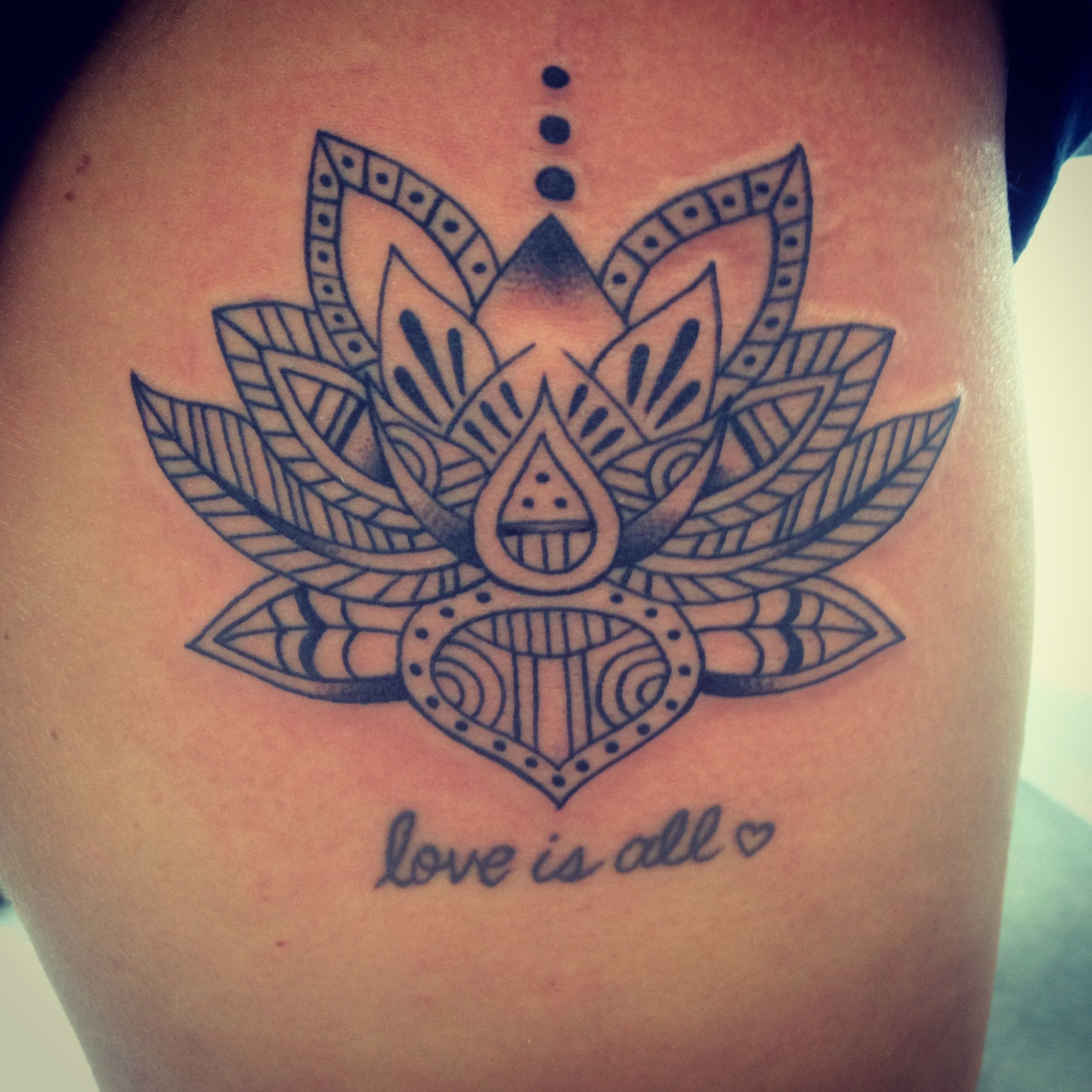 I want the dots on the bottom too quote in the pursuit of lotus flower tattoo minus the text izmirmasajfo Image collections