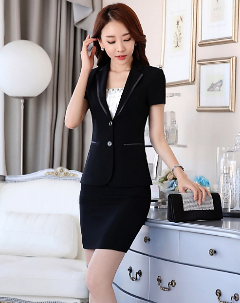 74d19fb344f New Summer slim women business skirt suit set OL fashion formal work wear  career blazer with skirt office ladies plus size suits   MostExpensiveWomenSFashion