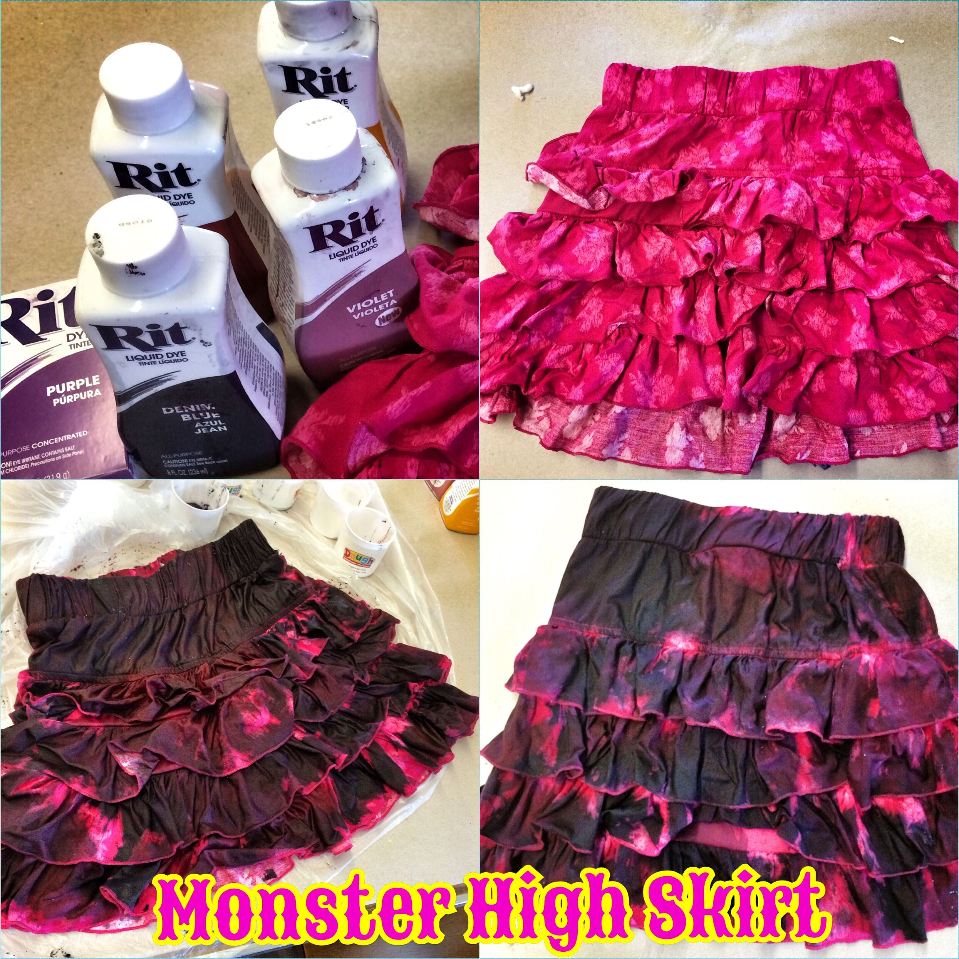How to make fabric dye - Monster High Skirt Rit Fabric Dye Clothing Dyeing Make A Replica Of Your Monster