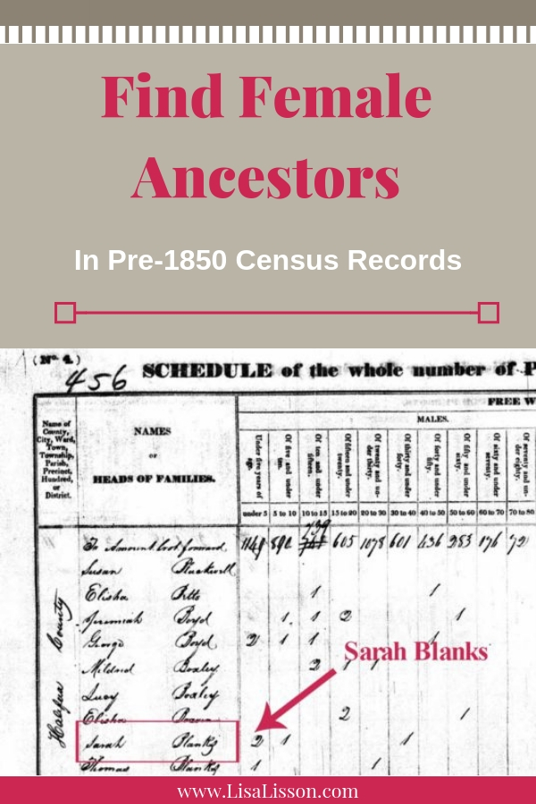 Find Female Ancestors in Pre-1850 Census Records #ancestors