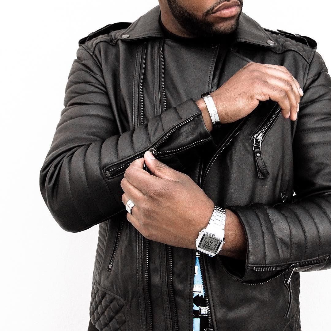 Leather jacket instagram -  Devanondeck On Instagram Gunmetal Hardware Details Biker Leatherleather Jacketmen