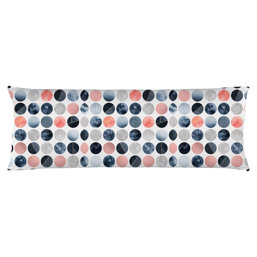 Blue and Pink Dots Body Pillow