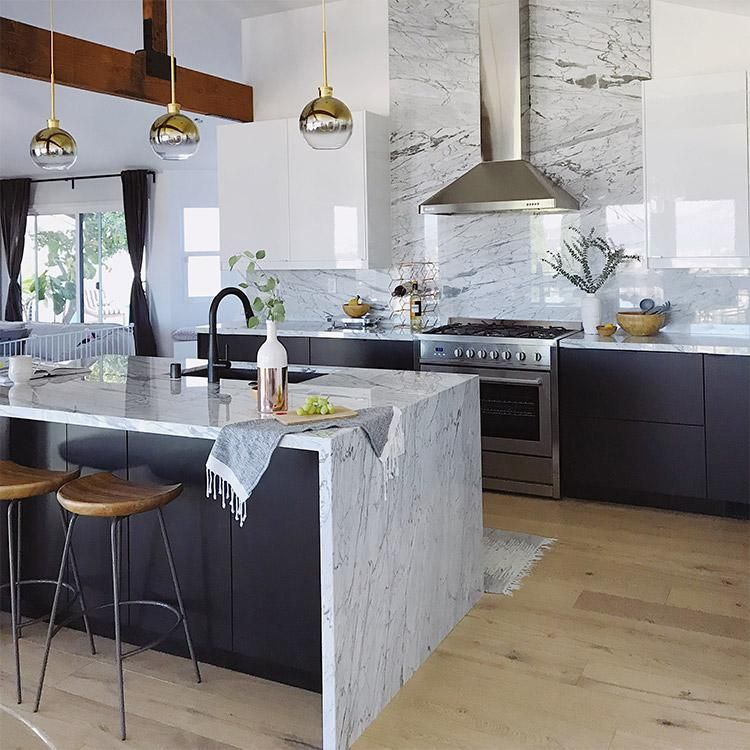 Our Install Ready Custom Ikea Kitchen Cabinet Doors And Drawers Will Take Your Kitchen Ren White Marble Kitchen Contemporary Kitchen Design Ikea Kitchen Design