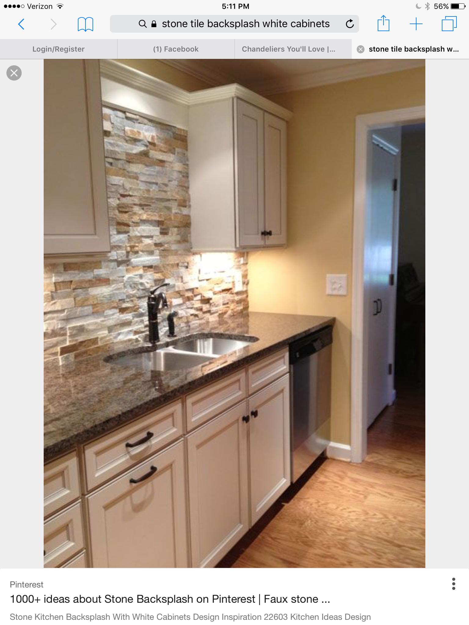 Kitchens. Stacked Stone Backsplash ...