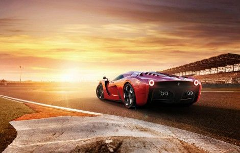 Supercar And Sunset Wallpaper Concept Cars Sports Cars Luxury Upcoming Cars
