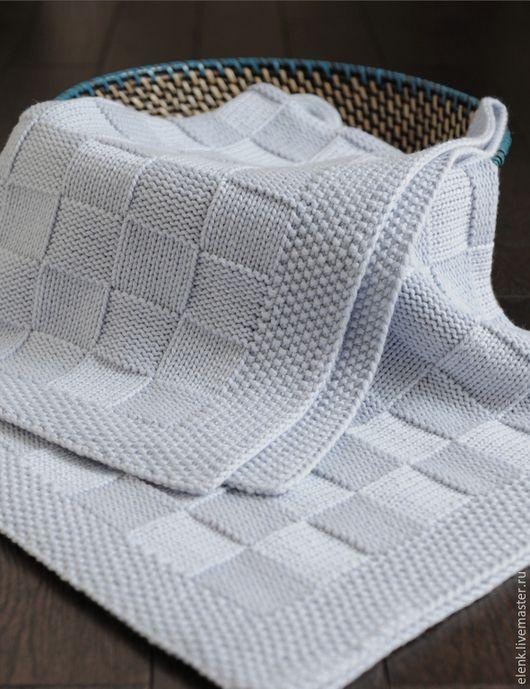 плед детский вязаный Chess пледы и одеяла ручной работы Elenk