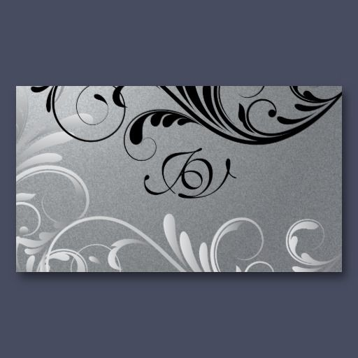 Spa salon business card monogram black silver elegant business spa salon business card monogram black silver this elegant business card features a speckled grey background with black and silver curled flourishes reheart Choice Image