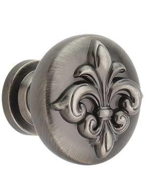Lafayette Raised Fleur De Lis Cabinet 1 3 8 Diameter House Of Antique Hardware