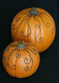Glorious Treats: Pretty Jeweled Pumpkins {D.I.Y. Craft}