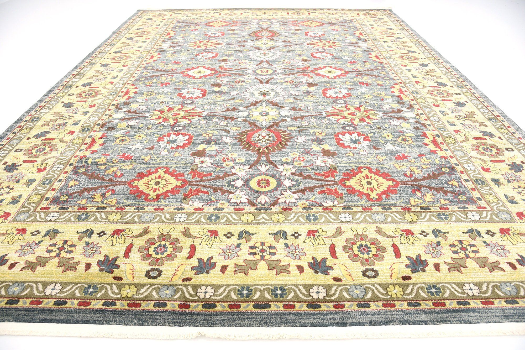 A2z Rug Heritage Collection Persian Traditional Area Rug Blue Light Green 10 X 13 Ft High Class Living Dinni Traditional Area Rugs Blue Area Rugs Dinning Room